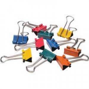 Q-Connect Foldback Clip 19mm Assorted Pack of 10 KF03651