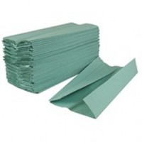 2work Hand Towel 1-Ply Green Pack of 2955 HT1301