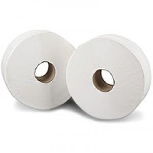2Work Jumbo Toilet Roll 2 Ply 410 Metre Pk 6 J26410