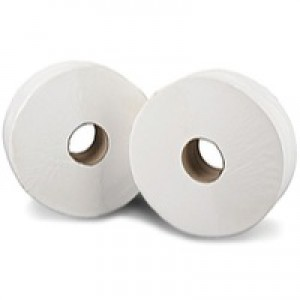 2work Jumbo Toilet Roll 2-Ply 200 Metre Pack of 12 J26200