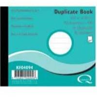 Q-Connect Duplicate Book 4x5 inches Ruled Feint