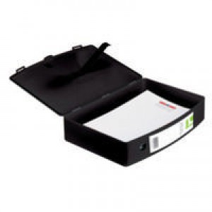 Q-Connect Box File Foolscap Polypropylene Black