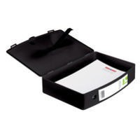 Q-Connect Box File Foolscap Polypropylene Black