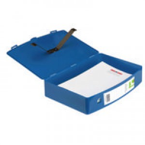 Q-Connect Box File Foolscap Polypropylene Blue CP096KFBLU