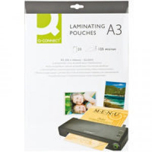 Q-Connect Laminating Pouch A3 125micron Pack of 25 KF04128