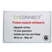 Q-Connect Premium Magnetic Dry Wipe Board 1200x900mm