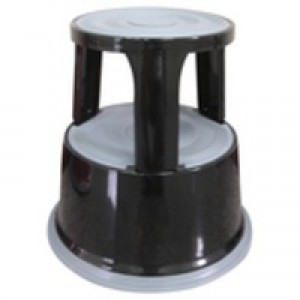 Q-Connect Metal Step Stool Black KF04845