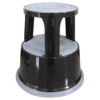 Q-Connect Metal Step Stool Black