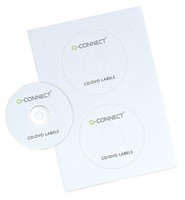 Q-Connect CD/DVD Label 2 per A4 Sheet Pack of 50