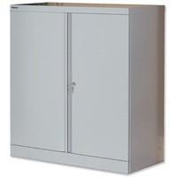 Jemini 2-Door Stationery Cupboard 914x400x1000mm 1 Shelf Grey