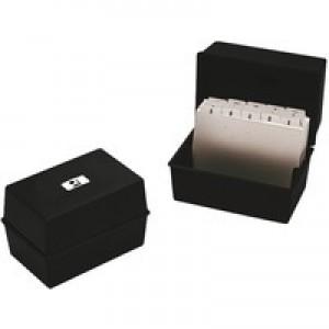 Q-Connect Card Index Box 5x3 inches Black