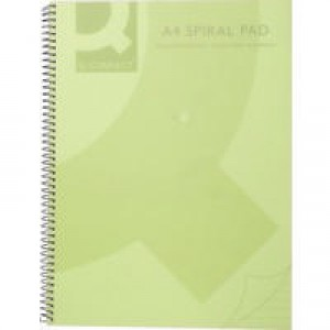 Q-Connect Spiral Book A4 Polypropylene Transparent Green KF10036