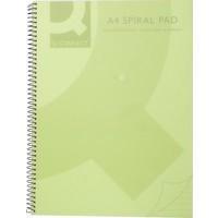 Q-Connect Spiral Book A4 Polypropylene Transparent Green