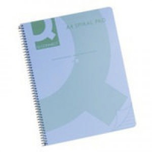 Q-Connect Spiral Book A4 Polypropylene Transparent Blue KF10037