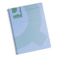 Q-Connect Spiral Book A4 Polypropylene Transparent Blue