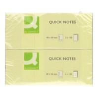 Q-Connect Quick Note Repositionable Pad 40x50mm Yellow