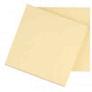 Q-Connect Quick Note Repositionable Pad 76x76mm Yellow