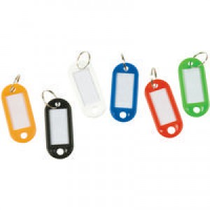 Q-Connect Key Hangers Assorted Pack of 100 KF10869