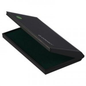 Q-Connect Large Stamp Pad Metal Case Green KF15439