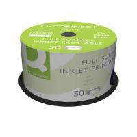 Q-Connect Full-Surface Inkjet Printable CD-R Discs 700MB 80min 52x (Pack of 50)
