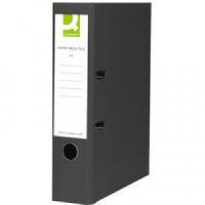 Q-Connect Lever Arch File Foolscap Paper-Backed Black