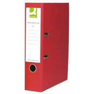 Q-Connect Lever Arch File Foolscap Paper-Backed Red