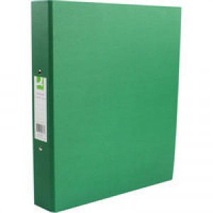 Q-Connect 2-Ring Binder A4 25mm Paper Over Board Green KF20037