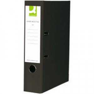 Q-Connect Lever Arch File A4 Paper-Backed Black