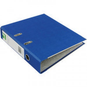 Q-Connect Lever Arch File A4 Paper-Backed Blue KF20039