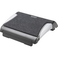 Q-Connect Foot Rest with Carpet Black/Silver