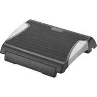 Q-Connect Foot Rest with Rubber Black/Silver