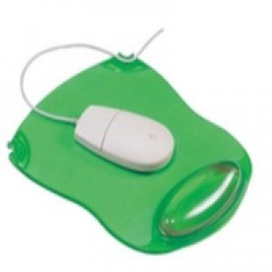 Q-Connect Clear Gel Mouse Mat Green KF20086