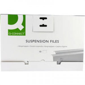 Q-Connect Suspension File Tabbed Foolscap (Pk 10) KF21018