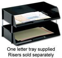 Q-Connect Wide Entry Letter Tray Black 21688