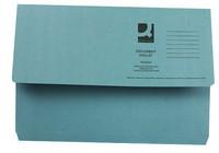 Q-Connect Document Wallet 285gsm Foolscap Blue
