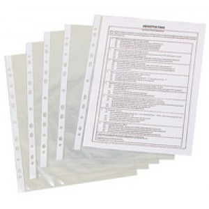 Q-Connect Punched Pocket A4 50micron Pack of 100 KF24001