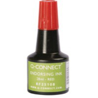 Image for Q-Connect Endorsing Ink 28ml Red