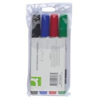 Q-Connect Dry Wipe Marker Wallet of 4 Assorted