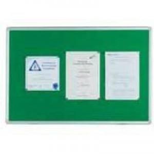 Q-Connect Notice Board 900x600mm Aluminium Frame Green