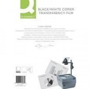 Q-Connect OHP PPC Film Clear 100micron Pack of 100 KF26066