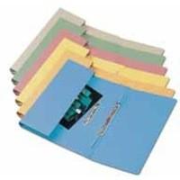 Q-Connect Transfer Pocket File Foolscap 38mm Capacity Blue