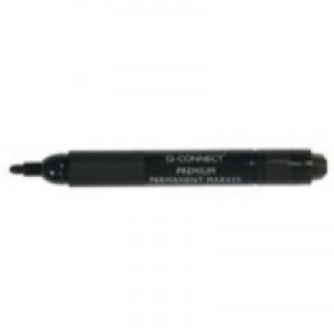 Q-Connect Premium Permanent Marker Bullet Tip Black KF26105
