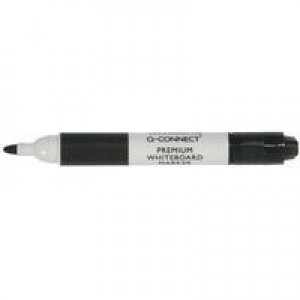Q-Connect Premium Whiteboard Marker Bullet Tip Black KF26109
