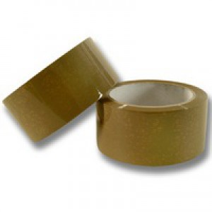 Q-Connect Packaging Tape Buff 50mm x66 Metres KF27010