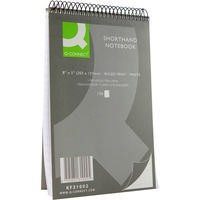 Q-Connect Shorthand Notebook 150 Leaf Ruled Feint 203x127mm