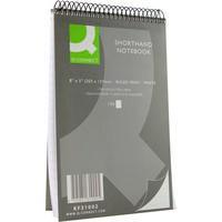 Q-Connect Shorthand Notebook 150 Leaf Ruled Feint 203x127mm