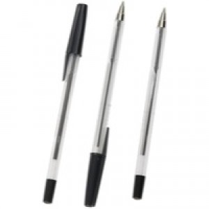Q-Connect Ballpoint Pen Medium Black