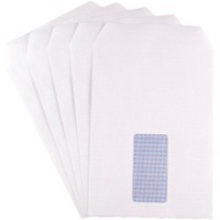 Q-Connect Envelope C5 Window 90gsm White Self-Seal Pack of 500