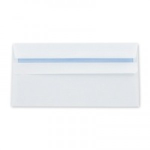 Q-Connect Envelope DL 80gsm White Self-Seal Pack of 1000 KF3454