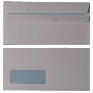 Q-Connect Envelope DL Low Window 90gsm White Self-Seal Pack of 1000 KF3481